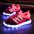 2016 Niños Zapatos de Los Muchachos Zapatos Chaussure Enfant Brillantes Zapatillas de deporte de Moda Light Up Casual 7 Colores USB de Recarga Tamaño EUR 26-37