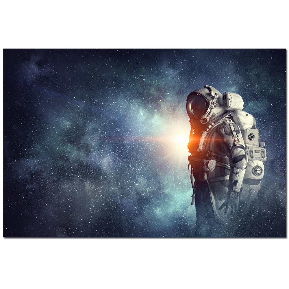 Canvas Art Planets Solar System Space Earth Moon Poster Astronaut