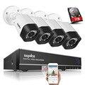 Sannce 8ch cctv sistema 4 em 1 ahd dvr 4 pcs 720 P IR À Prova de Intempéries Ao Ar Livre Câmera de CCTV de Vigilância de Vídeo Em Casa Segurança Kits