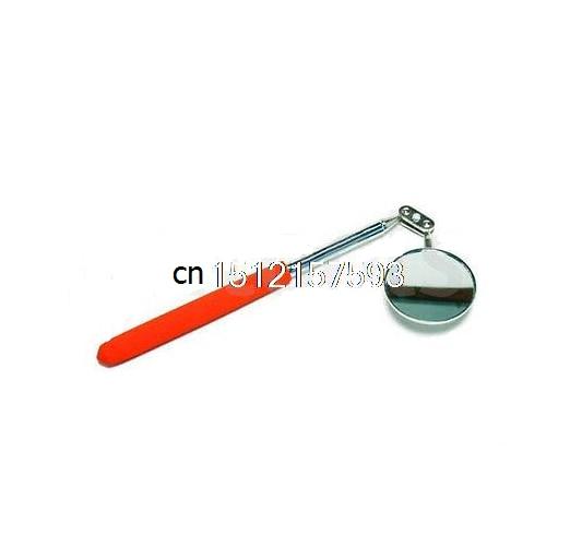 Telescopic Extending Inspection Mirror Rubber Grip Size 5cm dia 19-36cm Long.  цены