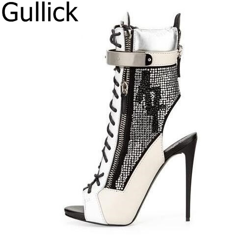 Fashion Autumn Spring Sexy Women Shoes Casual Rivets Studded Peep Toe Buckle Strap Sandal Boots Women Thin High Heels Free Ship free shipping hot fashion strappy high heels gladiator sandal caged studded shoes fashion cutout ultra high heels cool boots