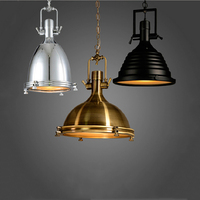 Adjustable chain pendant lamp retro loft lamp dining room office internet bar club pub cafe lights vintage chandelier droplight