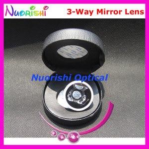 Image 4 - SL13 עיניים גולדמן שלוש 3 דרך מראה הפונדוס סדק מנורת עדשות מגע שחור עור מתכת מקרה ארוז משלוח חינם
