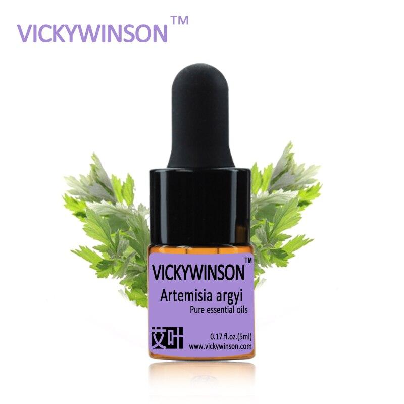 VICKYWINSON Artemisia argyi essential oil 5ml 100% pure medicine Argy Wormwood Leaf herbal Essential oils WD1