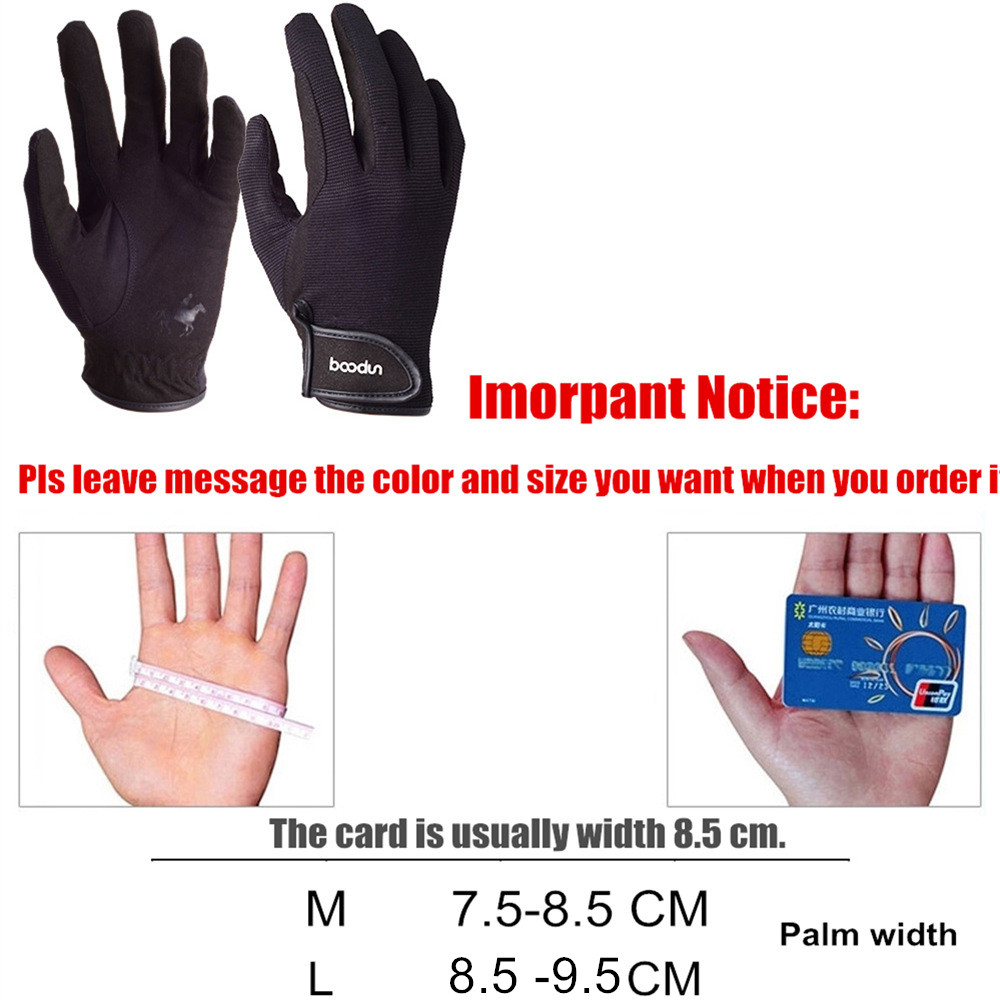 Купить с кэшбэком BOODUN Professional Horse Riding Gloves for Men Women Wear-resistant Antiskid Equestrian Gloves Horse Racing Gloves Equipment