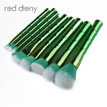 9Pcs Makeup Brushes Set Bamboo Handle Synthetic Hair Powder Eyebrow Make Up Brushes Tools Cosmetic Foundation Brush Kit