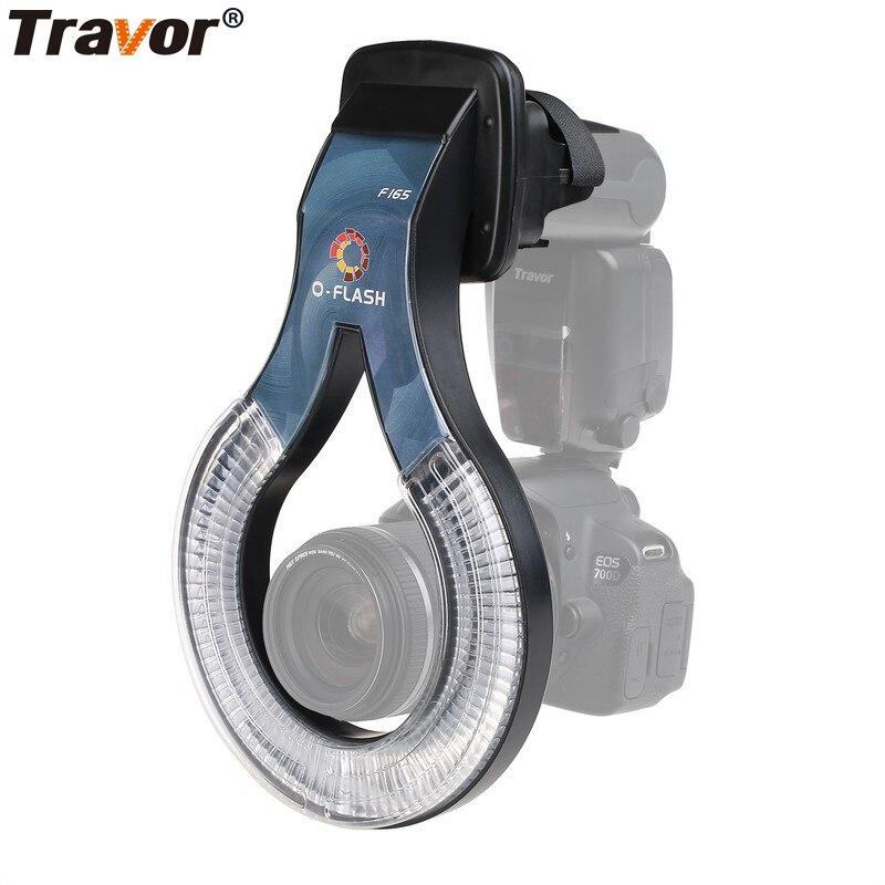 Travor Professional Macro O Flash Ring F165 For Canon 430EX 430EX II 50D 40D 30D Nikon
