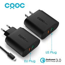CRDC For Qualcomm QC 3.0 Quick Charger 3.0 34.5W , 9V 12V 2 Ports Usb Wall Charger for Samsung S7 Note5 LG G5 iPhone Xiaomi Mi5