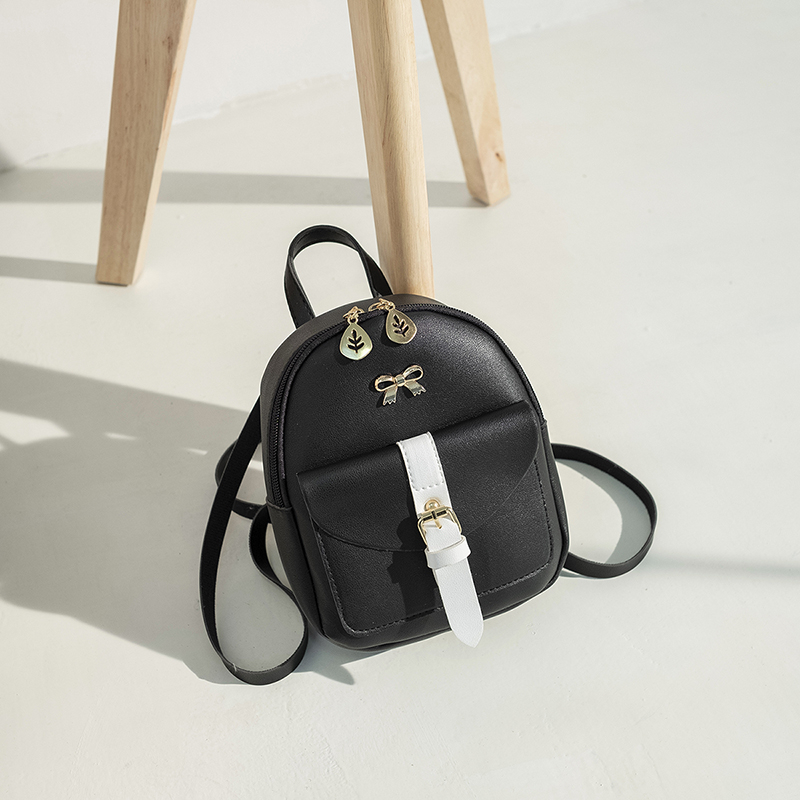 Rucksack Womens Mini Backpack Leather Material Ladies Bag School Bags Backpack Cute Style Fashion Bow Design
