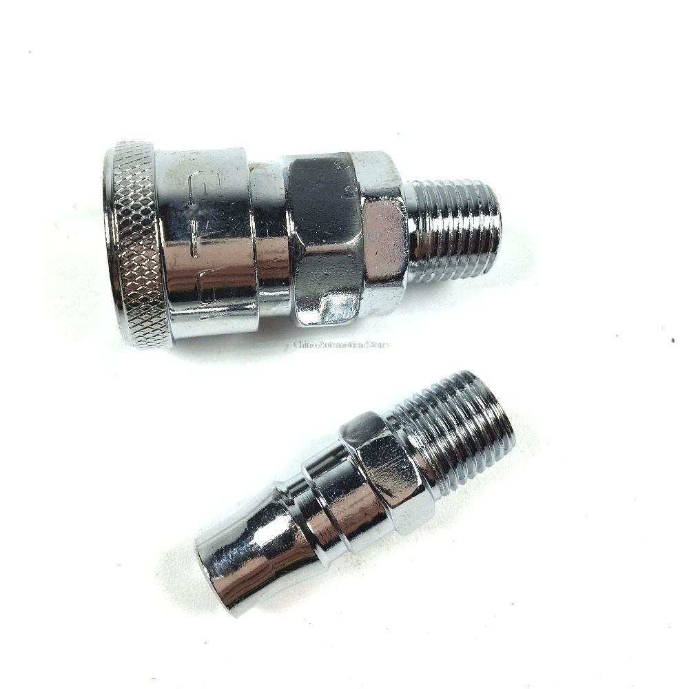 Pneumatic Fitting 1/4 PT Thread Air Coupler Quick Connector SM20+PM20 free shipping 30pcs peg 10mm 8mm pneumatic unequal union tee quick fitting connector reducing coupler peg10 8