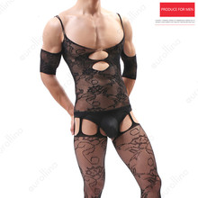 Adult Man Sexy Male Hot Bodystocking Sexuality Nylon Fetish Hormones Mature Cross Dressing Black Bodysuit Lingerie Outfit