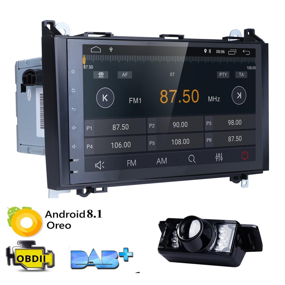 Lecteur Radio GPS 9 2 GB RAM Android 8.1 voiture sans DVD pour Mercedes Benz Sprinter W169 W245 W906 classe A/B Vito Viano W469 W639 + CamLecteur Radio GPS 9 2 GB RAM Android 8.1 voiture sans DVD pour Mercedes Benz Sprinter W169 W245 W906 classe A/B Vito Viano W469 W639 + Cam