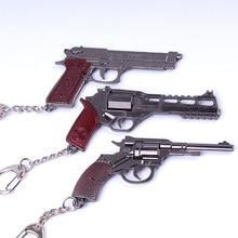 2019 New PUBG keychain game Men Women car FPS Game Player Unknown Battle Grounds 3D Keychain Weapon Gun Car Revolver eat chicken