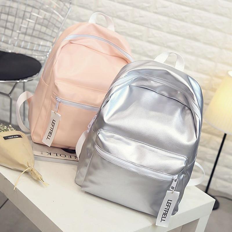 Hologram Laser Backpack For School Student Women's Laser Silver Color Holographic Bag backpacks Women Backpack superfit superfit сандалии открытые для мальчика серый зеленый