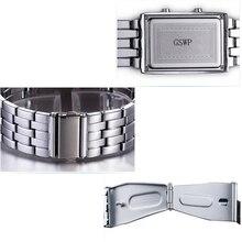 2018 Fashion Creative Luxury Lovers' Wristwatch Men Women Steel blue Binary Luminous LED Electronic  Sport Watches Smart Watch