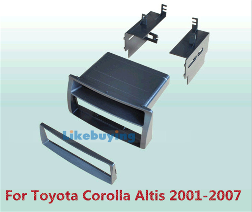 2 Din Car Frame Dash Kit / Car Fascias / Mount Bracket Kit For Toyota Corolla Altis 2001 2002 2003 2004 2005 2005 2006 2007