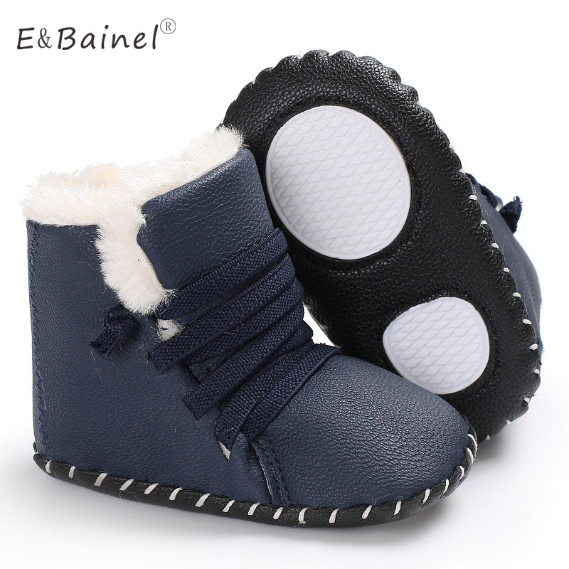 Fashion PU Leather Baby Moccasins Shoes Soft Sole Baby Girls Shoes Boys First Walkers Baby Boots Booties