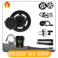 Sale Bafang BBS01B 36V 250W Mid Drive Motor Kit E-bike 8fun Brushless Gear Middle Motor Electric Bicycle Conversion Kit LCD Display 2