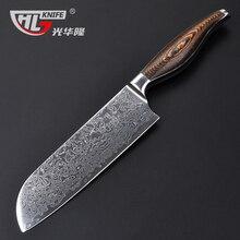 Japanese kitchen knife 7Inch Damascus santoku knife damascus VG 10 kitchen knife cooking tools