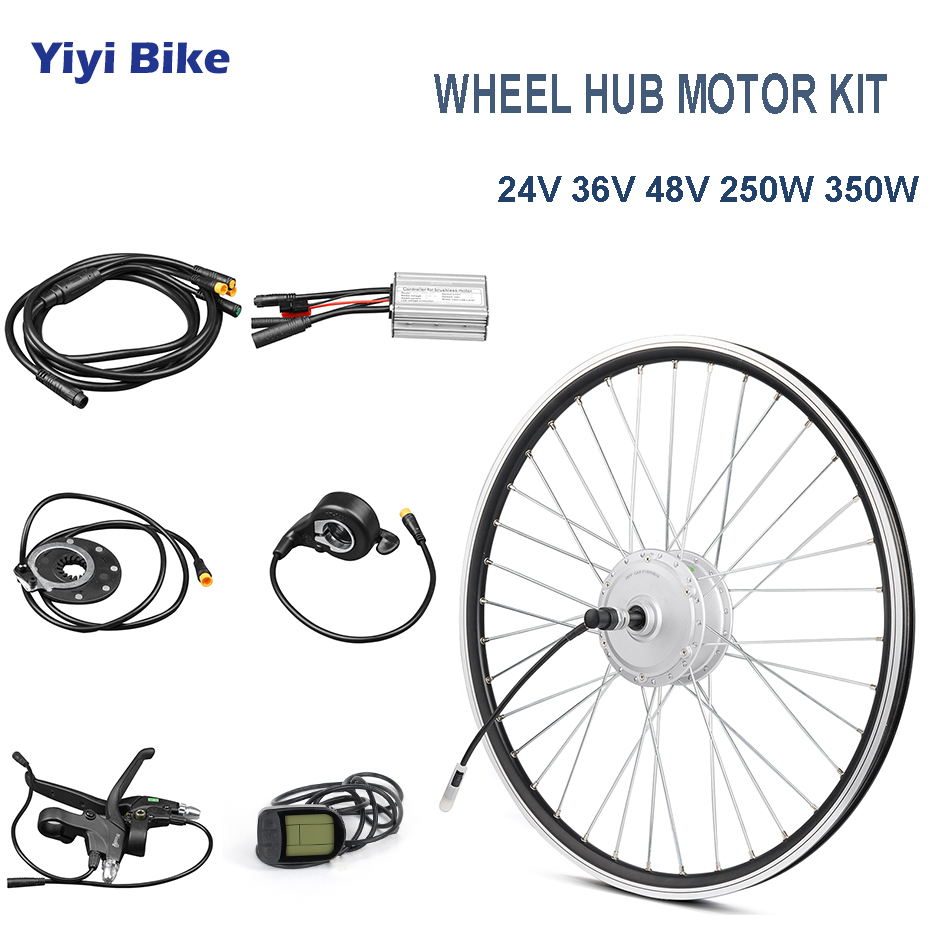 24v 48v 250w 350w 26 inch electric bike rear motor wheel dc motor brushless motor controller lcd