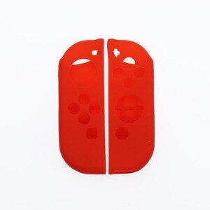 Image 2 - YuXi 1 مجموعة مكافحة زلة سيليكون لينة الحال بالنسبة نينتندو التبديل الغطاء الواقي الجلد ل نينتندو التبديل Joy Con تحكم ملحق