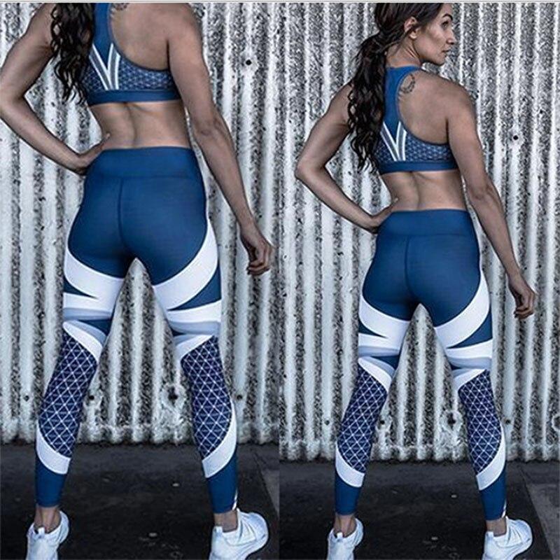 Women Casual Blue Leggings Skinny Elastic Force Sporting Fashion Polyester Fitness Leggings