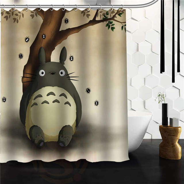 Custom Cartoon My Neighbor Totoro Shower Curtain 48x72 Inches High Quality Beautiful For The Bathroom In Curtains From Home Garden On