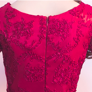 Image 5 - DongCMY ロングフォーマルスリーブイブニングドレス Burgund 色 Vestido プラスサイズパーティー均等化ガウン