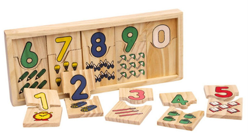 New wooden toy  Children Math toy wooden blocks Baby educational toy Free shipping
