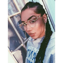 2017 eyeglasses fClear lens glasses Metal Frame Steam punk Vintage Hip Hop Designer Versae For Women Men oculos de sol masculino