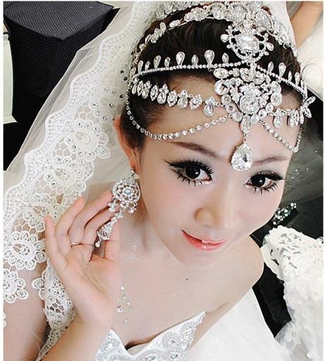 Crystal wedding Hair Accessories Rhinestone forehead jewelry wedding