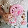 Rosa mulheres espelho banco de energia móvel de alimentação 4000 miliamperes painço tablet carregador de viagem carregador portátil para o iphone