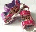 Anna y elsa verano sandalias, niñas deslizador de la playa, marca de dibujos animados zapatos de playa, sandalias de playa de verano estilo 24 par/lote