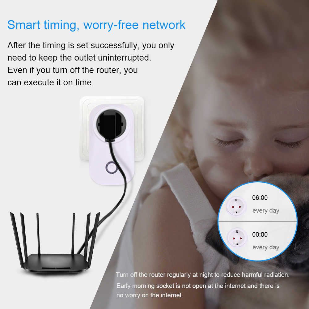 Itead Sonoff S20 Smart WiFi Socket EU Plug Wireless Remote Outlet Wifi  Switch Works With Alexa Google Home Assistant Timing
