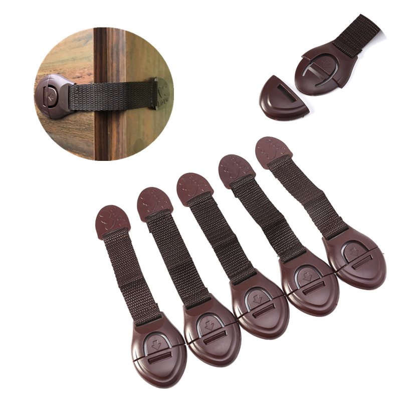 5pcs/lot Safety Cabinet Lock <font><b>Baby</b></font> Security Drawer Door Refrigerator Toilet Locks Children Kids Safe Protect <font><b>Proofing</b></font> <font><b>Products</b></font> image