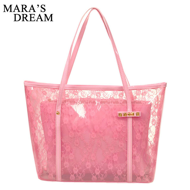 ce290035e مارا حلم سيدة الطباعة زهرة حقائب مصمم حمل حقيبة انظر من خلال حقائب كتف واضح  شفاف