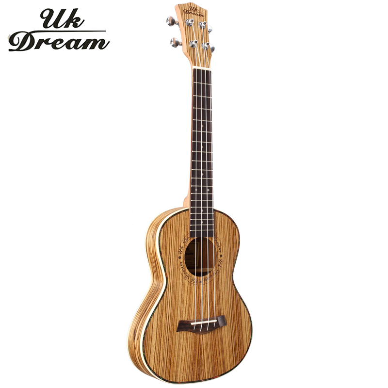26 inch ukulele Full Zebra Thin Barrel Wooden Guitar Musical Instruments Closed Knob Ukulele 4 Strings Acoustic Guitar  UT-226T savarez 510 cantiga series alliance cantiga normal high tension classical guitar strings full set 510arj