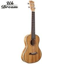 цены на 27-inch ukulele Full Zebra Thin Barrel Wooden Guitar Musical Instruments Closed Knob Ukulele 4 Strings Acoustic Guitar  UT-226T  в интернет-магазинах