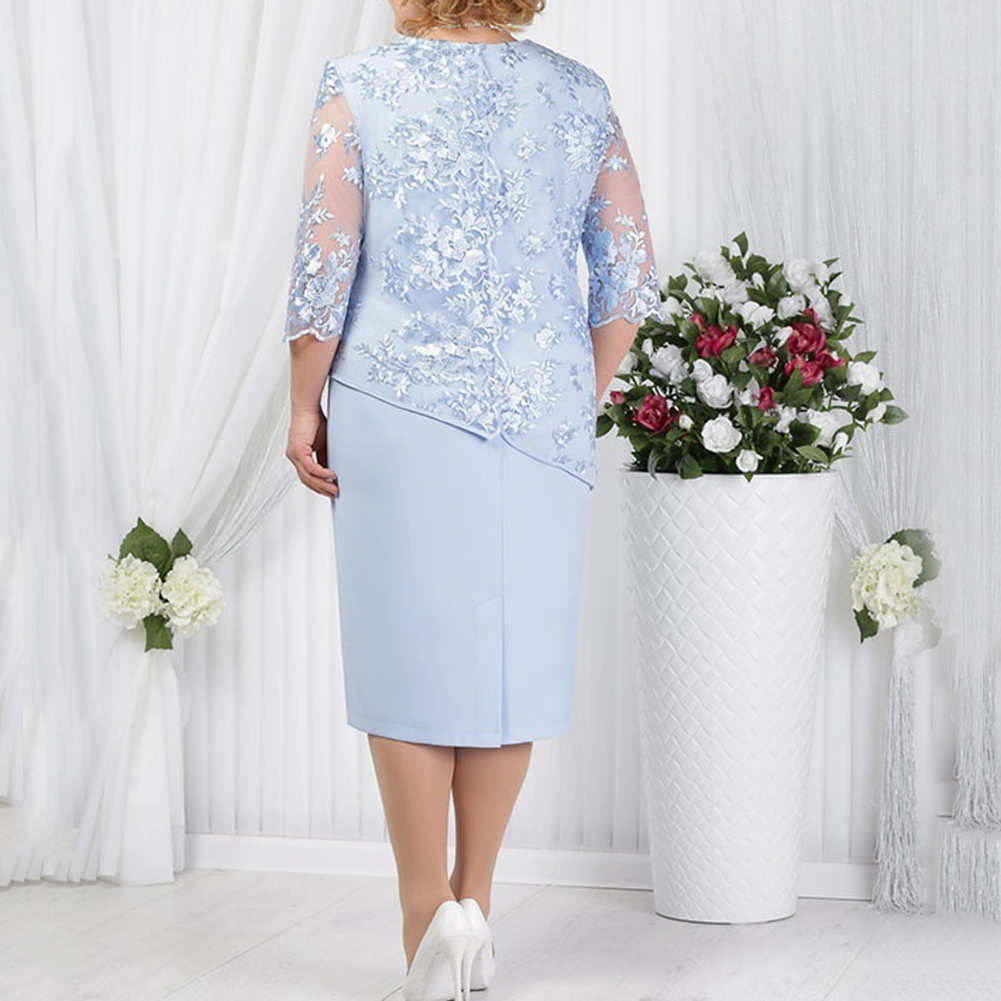 Mother Of The Bride Dresses With Jacket Plus Size Wedding Party Gown Scoop Neck Half Sleeve robe mere de la mariee 2020