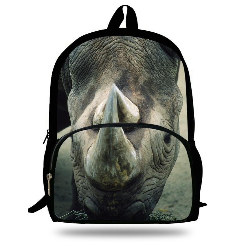 Zoo Bambini Dei Per Borse 16d925 Pollici Della 16d923 Sacchetto Ragazze Stampa Rhinoceros Le Animale Scuola Zaino Ragazzi Carino 6q55w0H