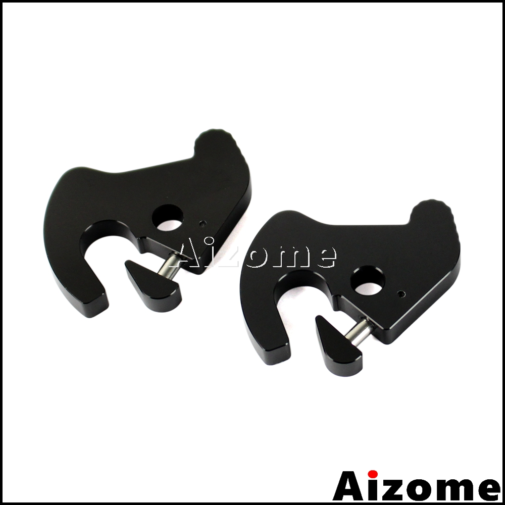 Pair Rotary Luggage Rack Docking Latch Clips Kit For Harley Touring Sportster Softail Dyna Detachable Sissy Bar Mount Latches