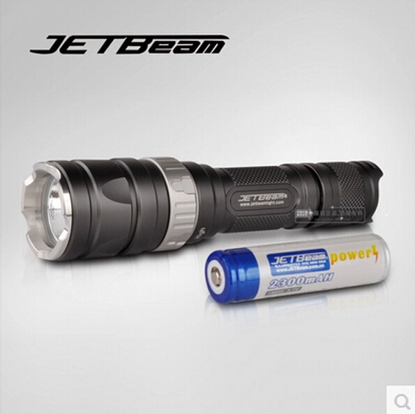 лучшая цена Origial JetBeam RRT-2 Cree U2 LED Tactical Flashlight for Camping Hunting Hiking Fishing Bicycle tactical Torch w/18650 Battery