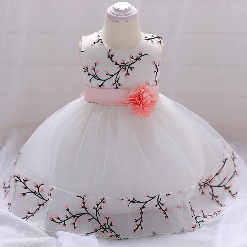 Petites filles robe d'anniversaire nouveau-né bébé filles brodé prune vêtements bébé fille vêtements d'été enfant en bas âge fille robes d'été