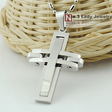 GOKADIMA bijioux, Fashion Metal 316l stainless steel Cross Pendant Necklace for