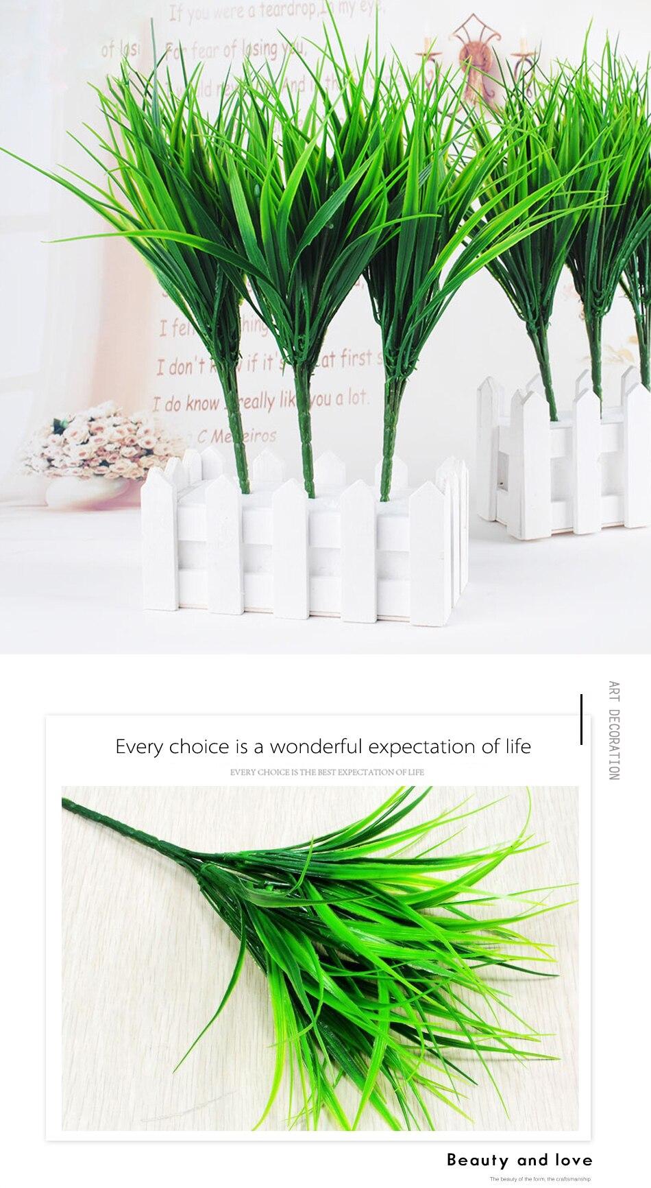 1 шт. Искусственный пластик 7 веток трава растение поддельный цветок свадебный цветок Расположение Рождество украшение дома