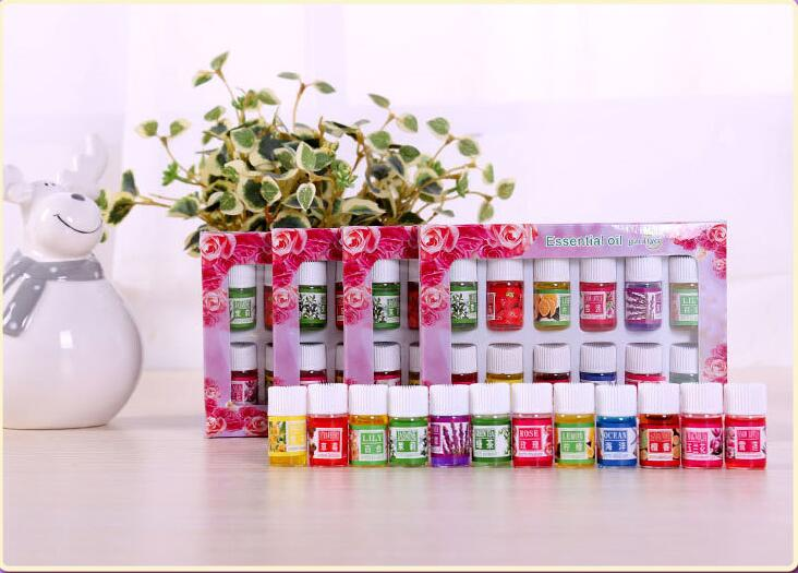 12 Bottles Pack Natural Plants Fragrance 3ml Essential Oil For DIY Aromatherapy Humidifier Perfume Smell Purifying Air Care Oil in Essential Oil from Beauty Health