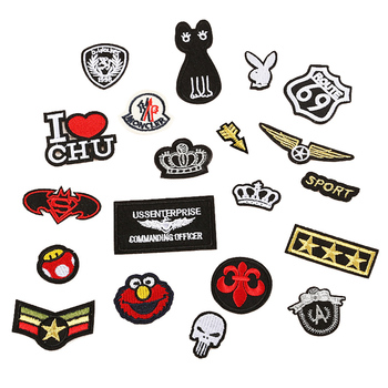 Imperial Crown Army Emblem Iron On Patches Sewing Embroidered Applique Jacket Clothes Stickers Badge DIY Apparel Accessories image