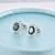 Sistema de la joyería creado esmeralda verde piedra verdadera plata de ley 925 colgante de collar y aretes para las mujeres flor de cristal