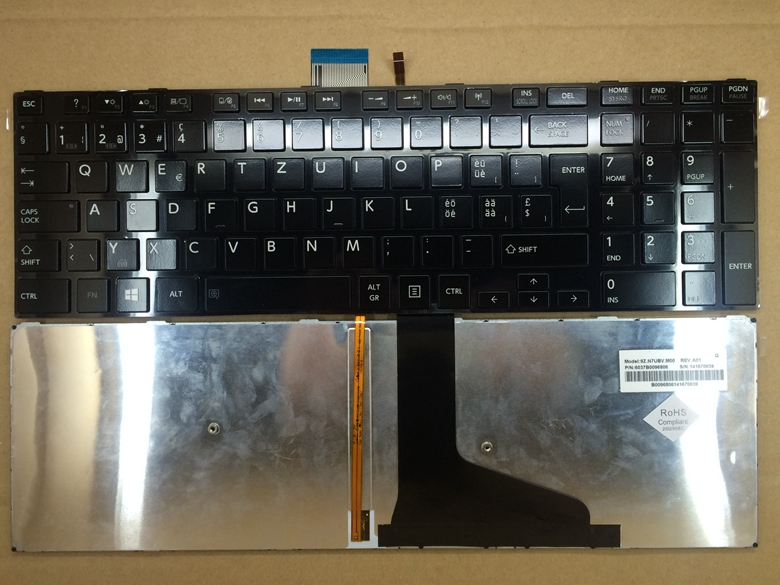 New Laptop keyboard for  TOSHIBA S855 S50 L50 S55 L50-A S55A SW/SWISS layout laptop keyboard for acer silver without frame swiss g sw v 121646ck2 sw aezqss00110