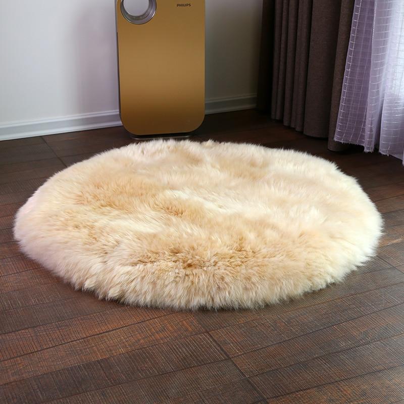 Big round shape sheep fur throw for furniture upholstery, bedding sheepskin rug, luxury sheep skin ground mat  free shipping